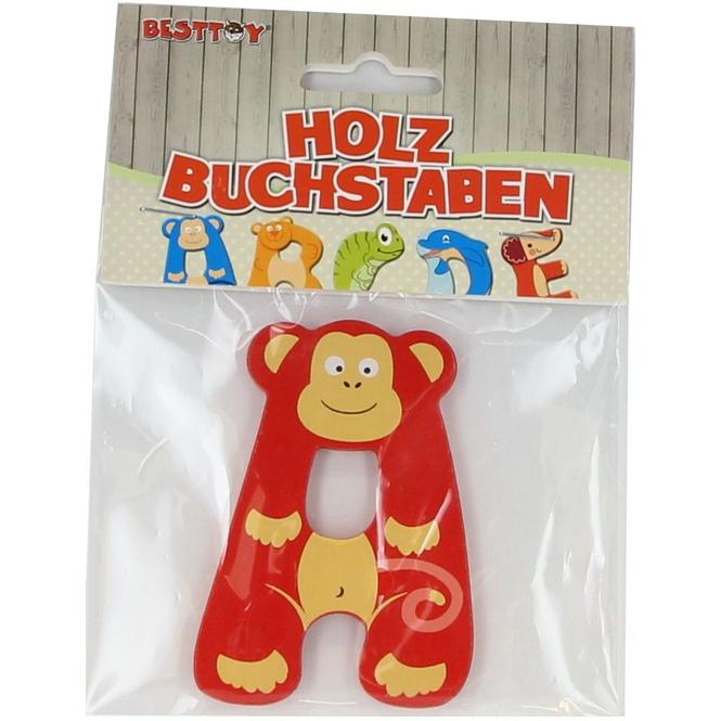 Besttoy - Holzbuchstabe - A - rot