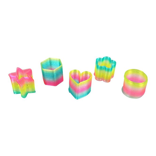 Besttoy - Regenbogen-Spirale mit Glitzer - 1 Stück - verschiedene Ausführungen