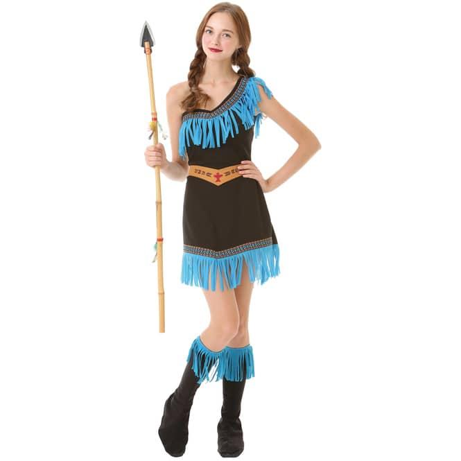 Kostüm - Häuptlingstochter - für Erwachsene - 3-teilig - verschiedene Größen