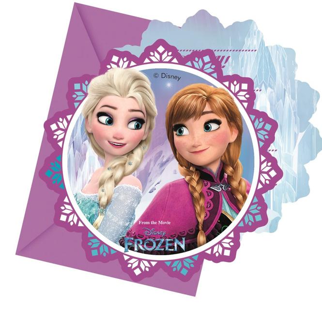 Die Eiskönigin - 6 Einladungskarten