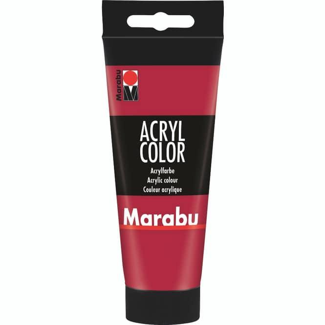 Marabu - Acryl Farbe - Karminrot - 1 Tube á 100 ml