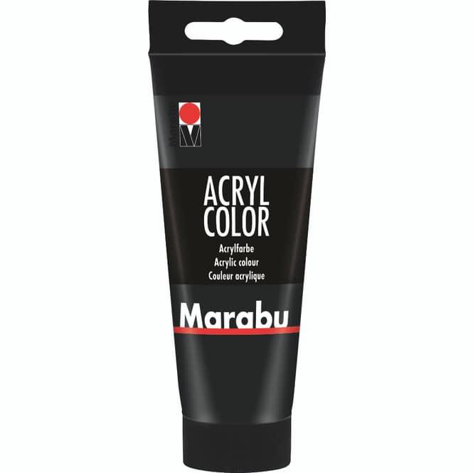 Marabu - Acryl Farbe - Schwarz - 1 Tube á 100 ml