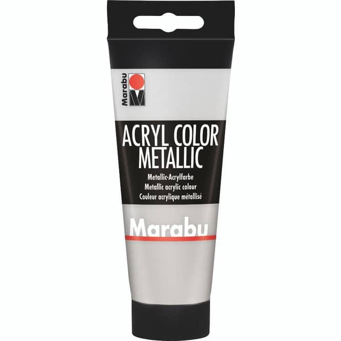 Marabu - Acryl Farbe - Silber - 1 Tube à 100 ml