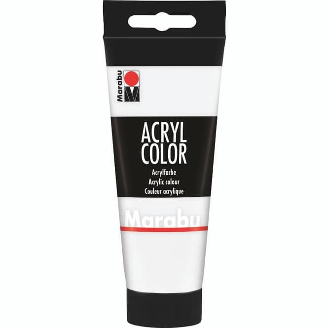 Marabu - Acryl Farbe - Weiß - 1 Tube á 100 ml