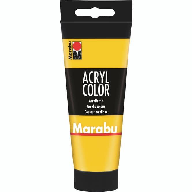 Marabu - Acryl Farbe - Mittelgelb - 1 Tube á 100 ml