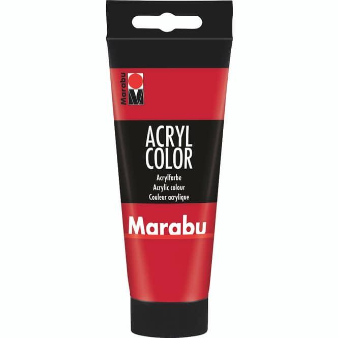 Marabu - Acryl Farbe - Kirschrot - 1 Tube á 100 ml