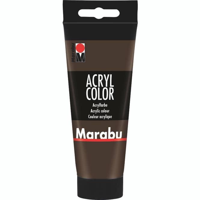 Marabu - Acryl Farbe - Dunkelbraun - 1 Tube á 100 ml
