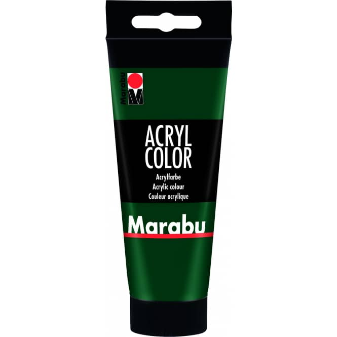 Marabu - Acryl Farbe - Tannengrün - 1 Tube á 100 ml