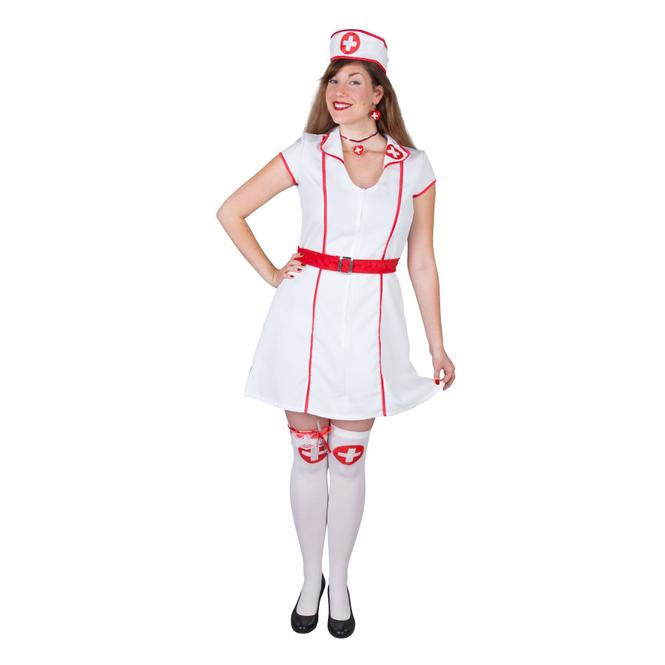 Kostüm - Krankenschwester - für Erwachsene - 3-teilig - Größe
