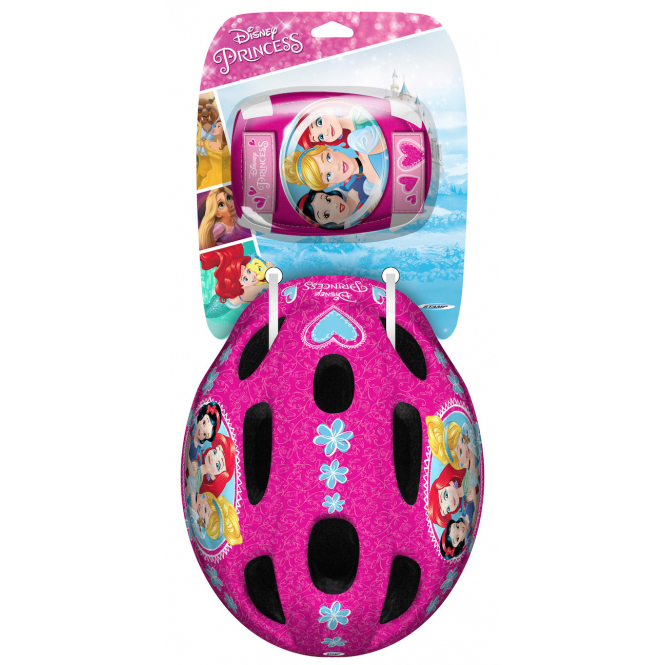 Disney Princess - Combo Set - Helm, Ellbogen- und Knieschutz