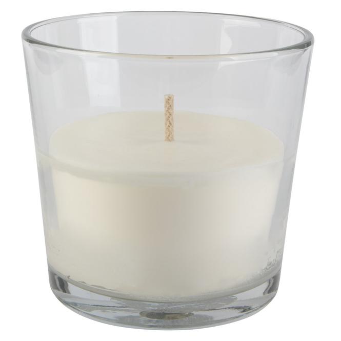 XXL-Kerze - im Glas - ca. 17 x 17 x 16 cm - weiß