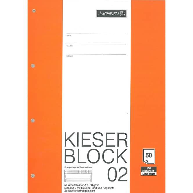 Kieserblock Lineatur 2, Nr. 02, 2. Klasse
