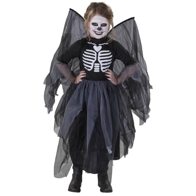 Kostüm - Schwarze Fee - für Kinder - 2-teilig