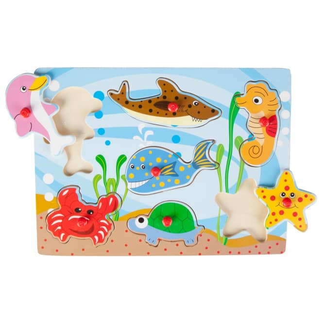 Besttoy - Holz-Puzzle - Meerestiere - 7 Teile