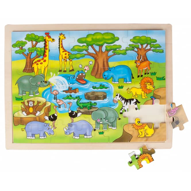 Besttoy - Großes Holzpuzzle - Safariparty - 48 Teile