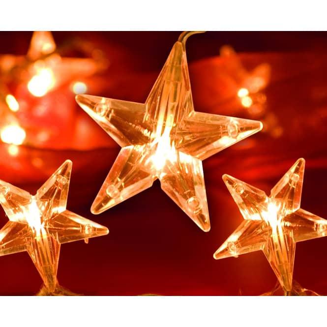 20er LED-Lichterkette - Sterne - verschiedene Designs