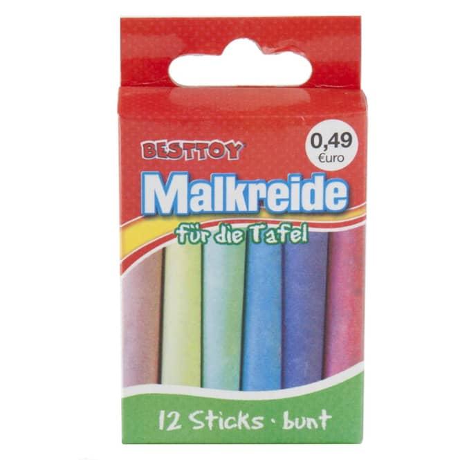 Tafelmalkreide - 12 Sticks - bunt