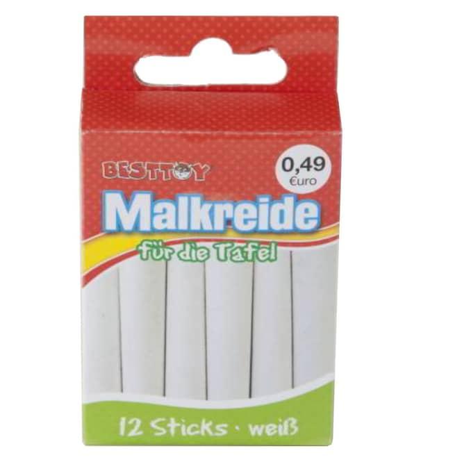 Tafelmalkreide - 12 Sticks - weiß