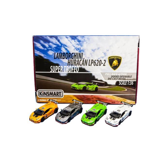 Spielzeugauto Lamborghini Huracan LP 620-2 - mit Rückzugsantrieb - 1:36 - 1 Stück