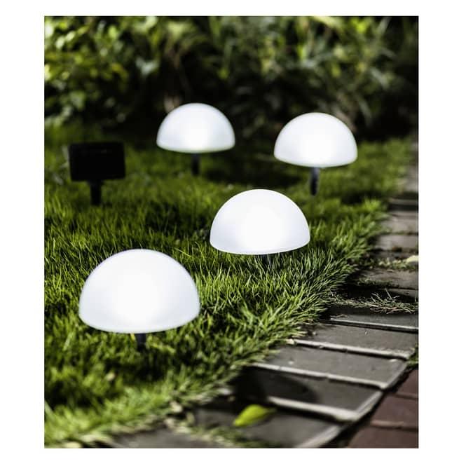LED-Solarstecker - ca. 15 x 8,5 cm - 4 Stück