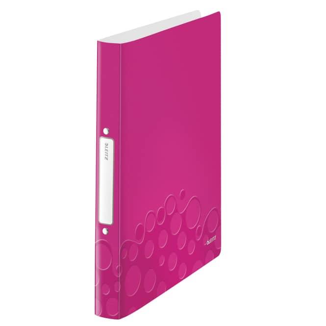 Ringbuch A4 - WOW - pink/metallic
