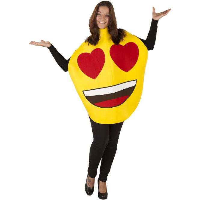 Emoticon Kostüm - Heart eyes - für Erwachsene