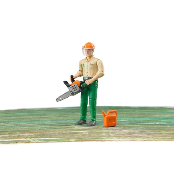Bruder 60030 Forstarbeiter mit Zubehör