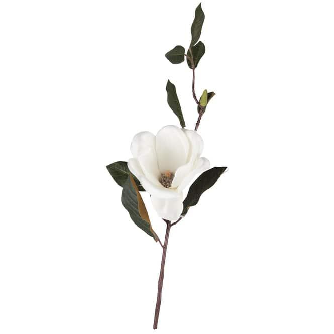 Magnolienzweig - 35 cm - creme