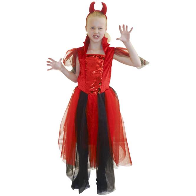 Kostüm - Teufelchen - für Kinder - 2-teilig - verschiedene Größen