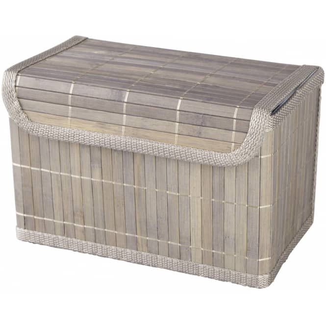Aufbewahrungskiste - aus Bambus - grau - verschiedene Größen