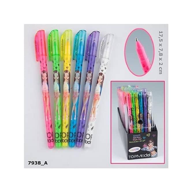 TopModel 6 Gelstifte neon