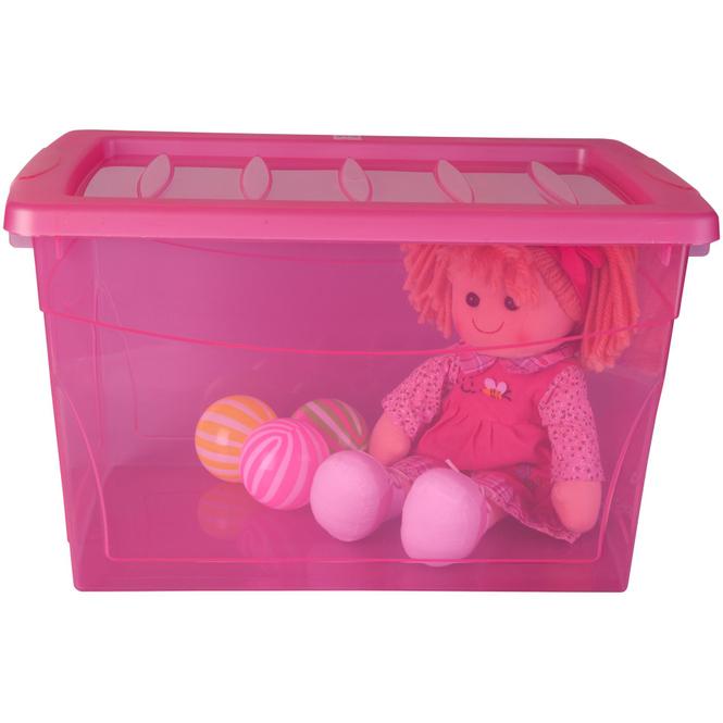 Ordnungsbox - 16 Liter - pink pink