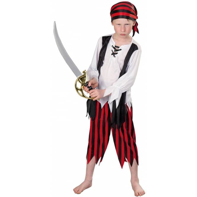 Kostüm - Piratenjunge - für Kinder - 3-teilig - Größe 110/116