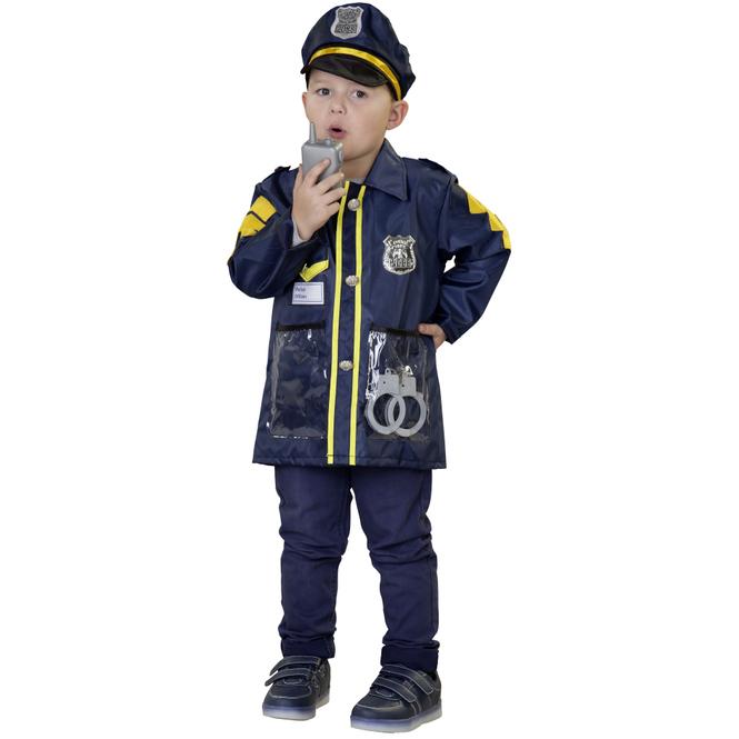 Kostüm - Polizist - für Kinder - Einheitsgröße - 4-teilig
