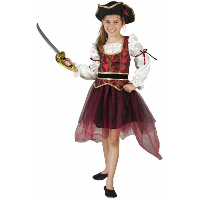 Kostüm - Piratenprinzessin - für Kinder - 2-teilig - Größe 122/128