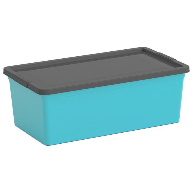Ordnungsbox mit Deckel - blau/grau - XS
