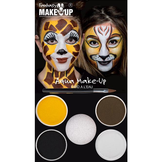 Schminkset - Löwe und Giraffe - Make-Up mit Zubehör