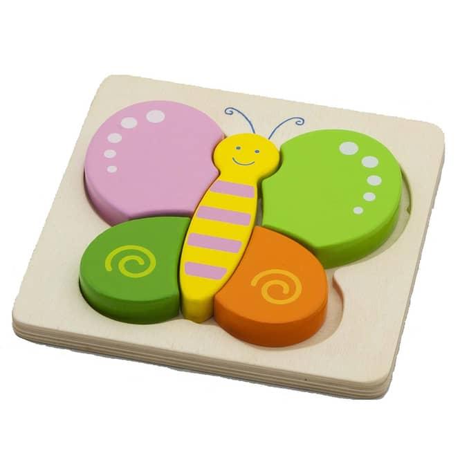 Holzpuzzle Schmetterling, 5-teilig