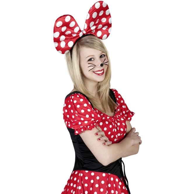 Haarreif - Maus - für Erwachsene - rot