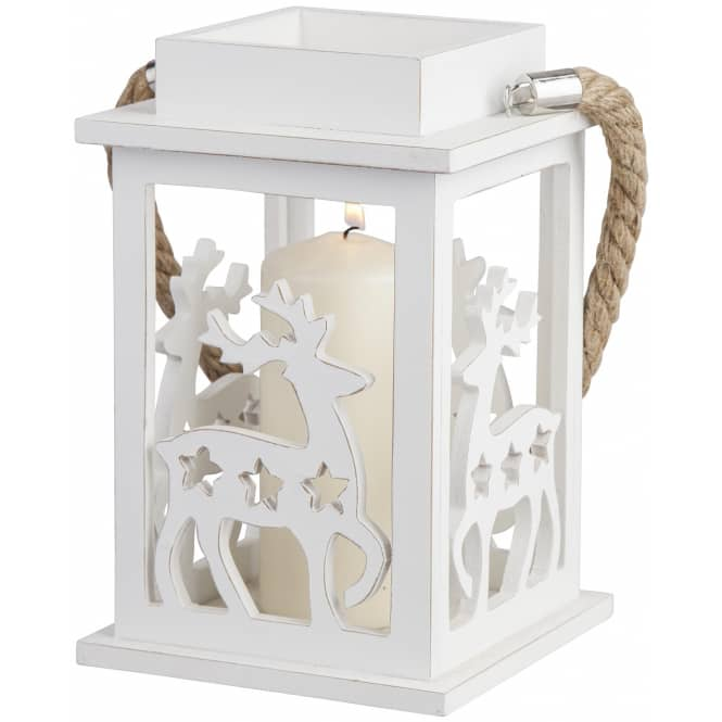 Windlicht - aus Holz - 13 x 13 cm - verschiedene Designs