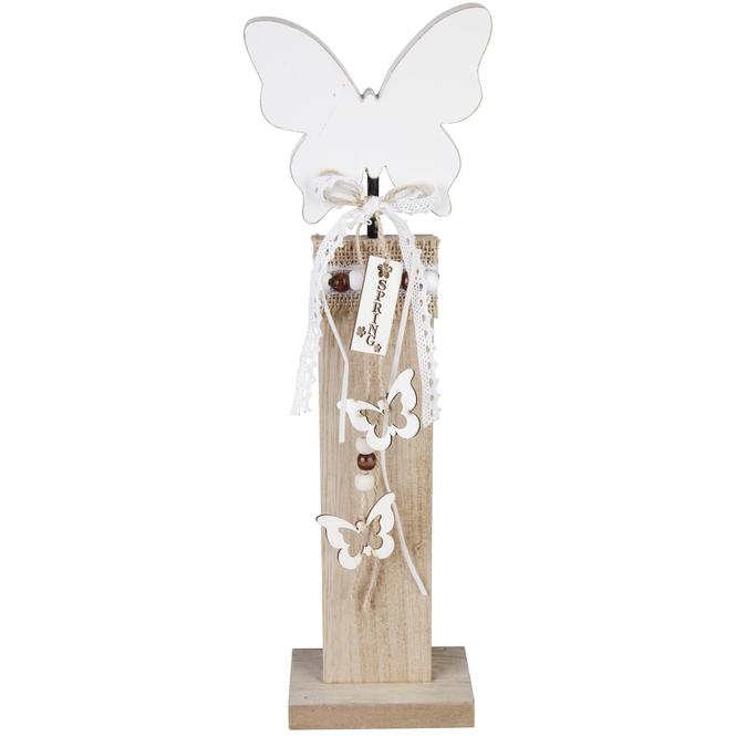 Standdeko - Schmetterling - aus Holz - 12 x 37,5 x 6 cm