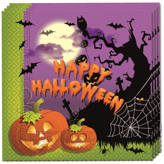 20 Servietten - Happy Halloween - ca. 33 x 33 cm