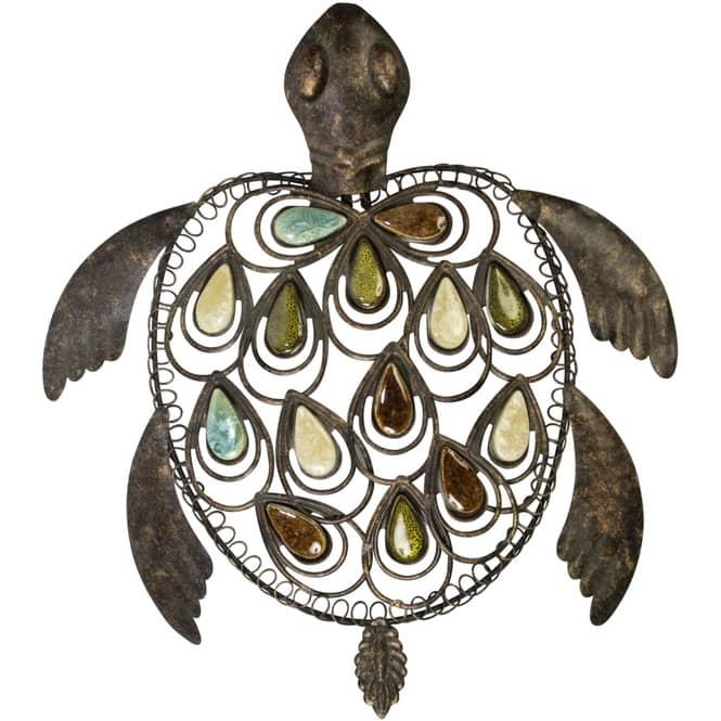 Wanddeko - Schildkröte - 34 x 6 x 38 cm