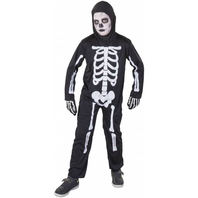 Kostüm - Skelett - für Kinder - 2-teilig - Größe 158/164