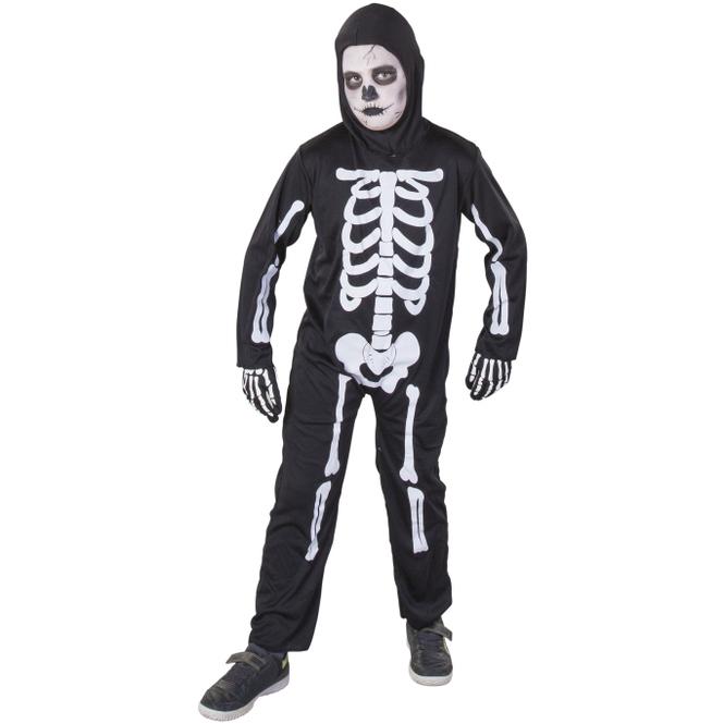 Kostüm - Skelett - für Kinder - 2-teilig - Größe 122/128