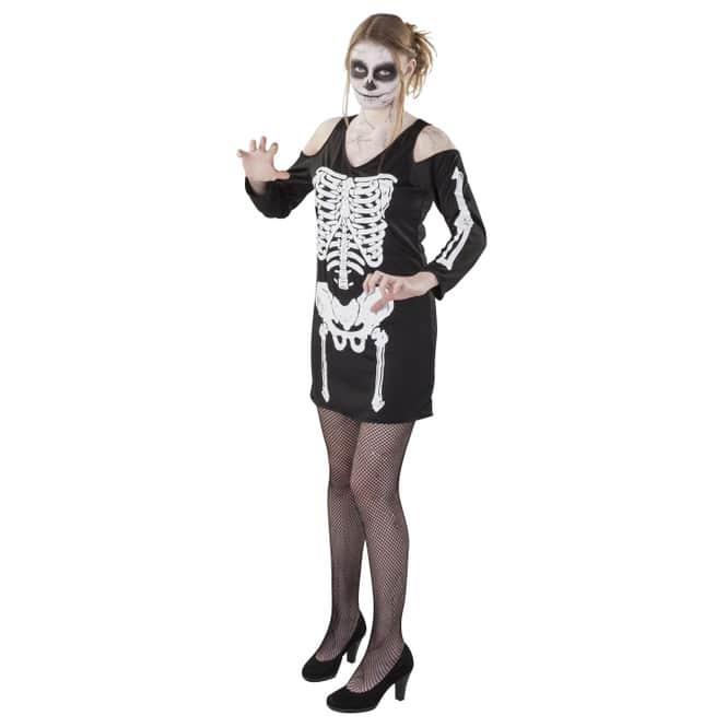 Kostüm - Skelettlady - für Erwachsene