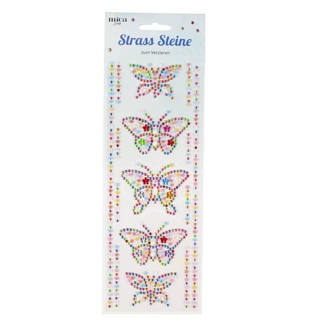 Strass-Sticker - Schmetterlinge
