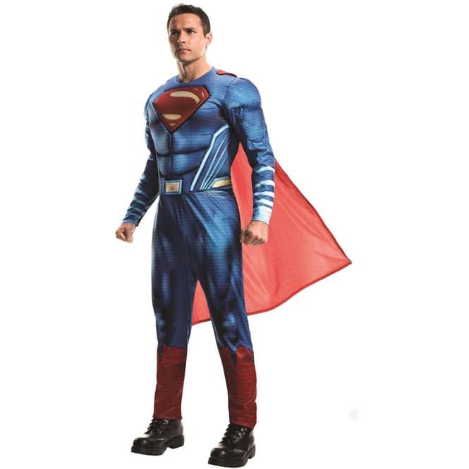 Superman Kostüm für Erwachsene - DC Justice League - verschiedene Größen