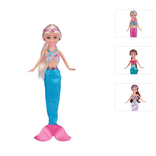 Sparkle Girlz - Modepuppe - Meerjungfrau - 1 Puppe