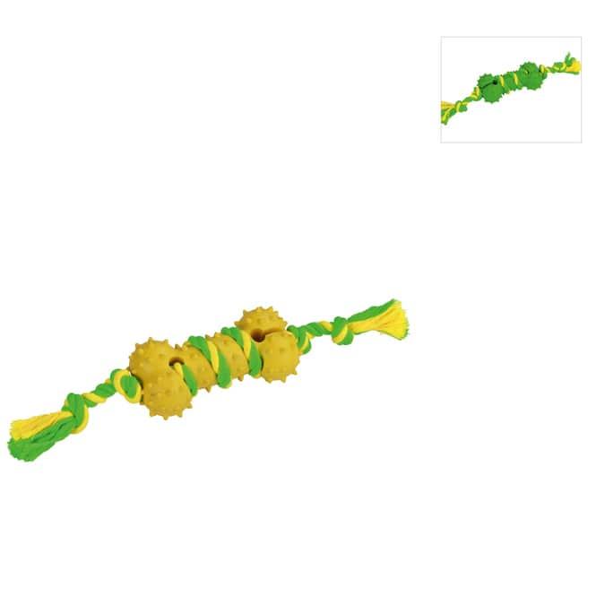 Hundespielzeug - Kauknoten mit Gummiknochen - 1 Stück